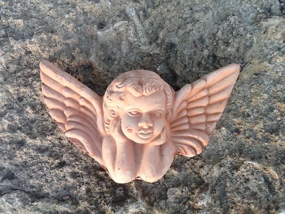 terracottaängel, 18 cm