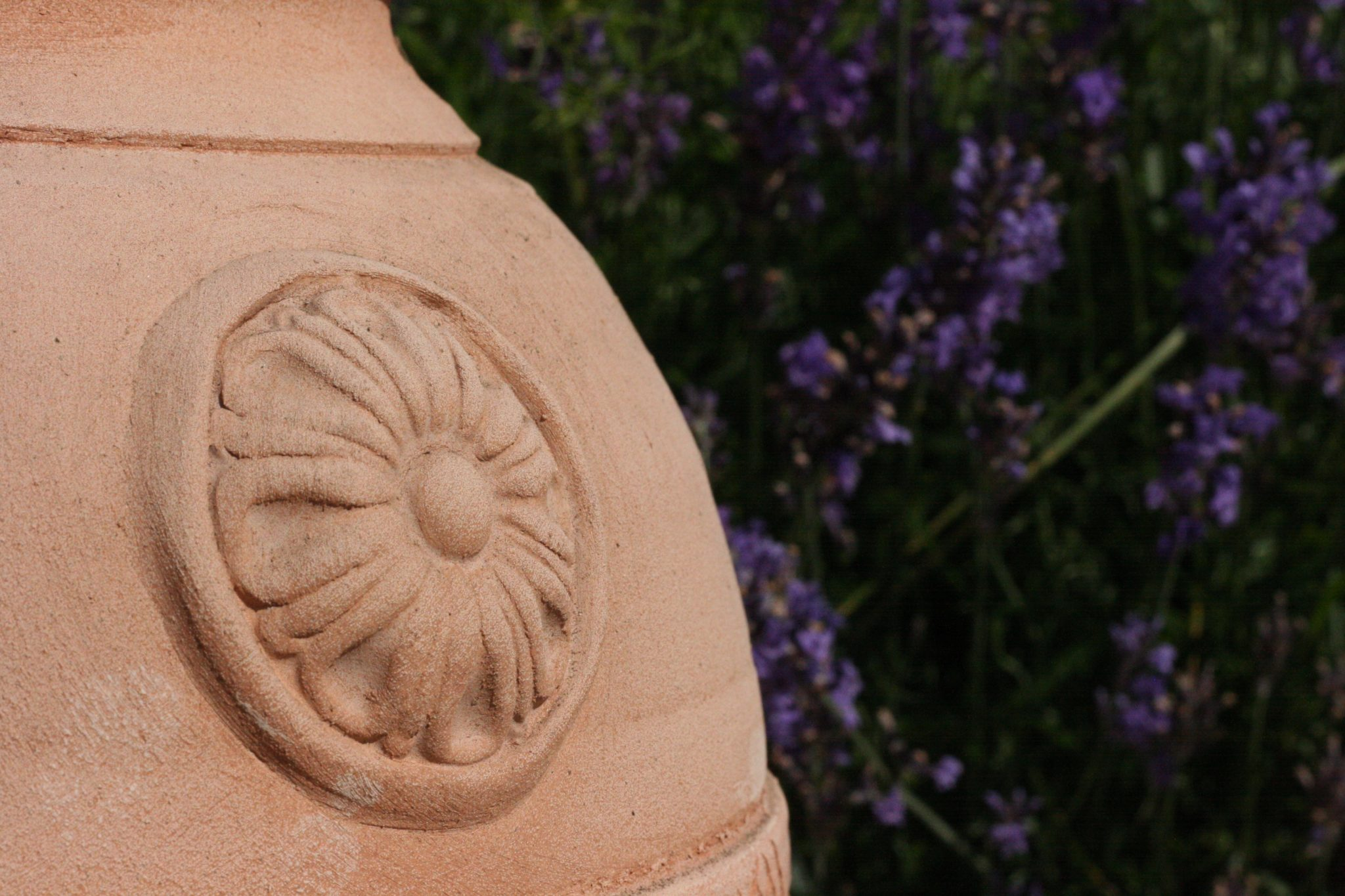 detalj av urna